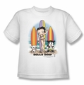 Betty Boop youth teen t-shirt Surfers white