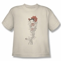 Betty Boop youth teen t-shirt Thorns Left Side Print cream
