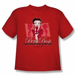 Betty Boop youth teen t-shirt Timeless Beauty red