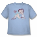 Betty Boop youth teen t-shirt Vintage Pin Pup light blue