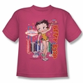 Betty Boop youth teen t-shirt Wet Your Whistle hotpink