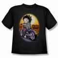 Betty Boop youth teen t-shirt Wild Biker black