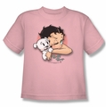 Betty Boop youth teen t-shirt Wink Wink pink