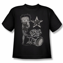 Betty Boop youth teen t-shirt With The Band black