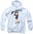 Betty Boop youth teen hoodie Air Force Boop white