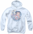 Betty Boop youth teen hoodie Aloha white