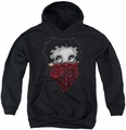 Betty Boop youth teen hoodie Bandana & Roses black