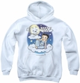 Betty Boop youth teen hoodie Betty Bye white