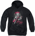 Betty Boop youth teen hoodie Biker Babe black