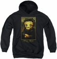Betty Boop youth teen hoodie Boopalisa black