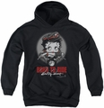 Betty Boop youth teen hoodie Born To Ride black
