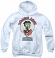 Betty Boop youth teen hoodie Breezy Zombie Love white