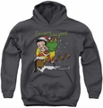 Betty Boop youth teen hoodie Chimney charcoal
