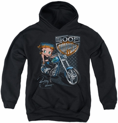 Betty Boop youth teen hoodie Choppers black