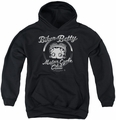 Betty Boop youth teen hoodie Chromed Logo black