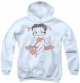 Betty Boop youth teen hoodie Classic With Pup white