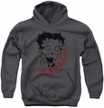 Betty Boop youth teen hoodie Classic Zombie charcoal