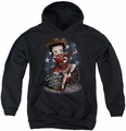 Betty Boop youth teen hoodie Country Star black