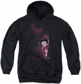 Betty Boop youth teen hoodie Cutie black