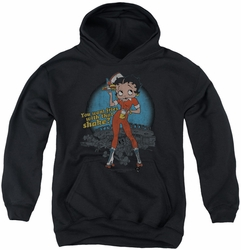Betty Boop youth teen hoodie Fries With That black