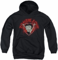 Betty Boop youth teen hoodie Heart You Forever black