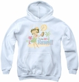 Betty Boop youth teen hoodie Hot In Hawaii white