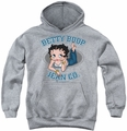 Betty Boop youth teen hoodie Jean Co athletic heather