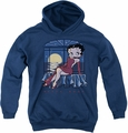 Betty Boop youth teen hoodie Moonlight navy