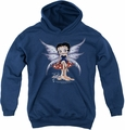 Betty Boop youth teen hoodie Mushroom Fairy navy