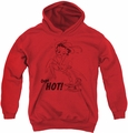 Betty Boop youth teen hoodie Nimble Betty red