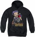Betty Boop youth teen hoodie Not Your Average Mother black