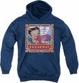 Betty Boop youth teen hoodie On Broadway navy