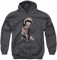 Betty Boop youth teen hoodie Out Of Control charcoal