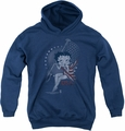 Betty Boop youth teen hoodie Proud Betty navy