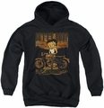 Betty Boop youth teen hoodie Rebel Rider black