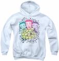 Betty Boop youth teen hoodie Sketch white