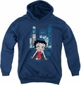 Betty Boop youth teen hoodie Square navy