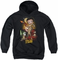 Betty Boop youth teen hoodie Star Princess black