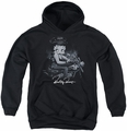 Betty Boop youth teen hoodie Storm Rider black