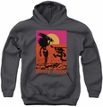 Betty Boop youth teen hoodie Summer charcoal
