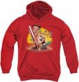 Betty Boop youth teen hoodie Surf red