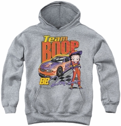 Betty Boop youth teen hoodie Team Boop athletic heather