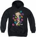 Betty Boop youth teen hoodie Tripple Xo black