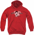 Betty Boop youth teen hoodie Vintage Cutie Pup red