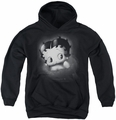 Betty Boop youth teen hoodie Vintage Star black