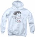 Betty Boop youth teen hoodie Vintage Wink white