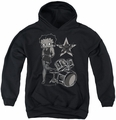 Betty Boop youth teen hoodie With The Band black