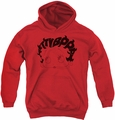 Betty Boop youth teen hoodie Word Hair red