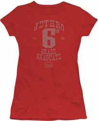 Beverly Hillbillies juniors t-shirt Mr 6th Grade Grad red
