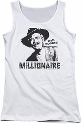 Beverly Hillbillies juniors tank top Millionaire white